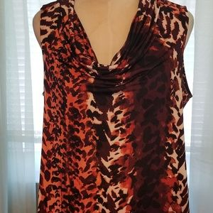 Dana Buchman sleeveless blouse (M)